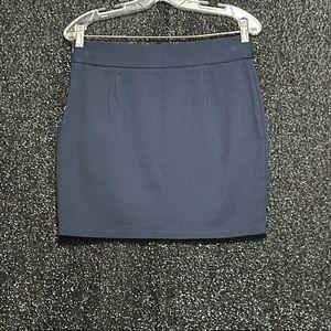 INC Size 10 Navy Blue Mini Skirt